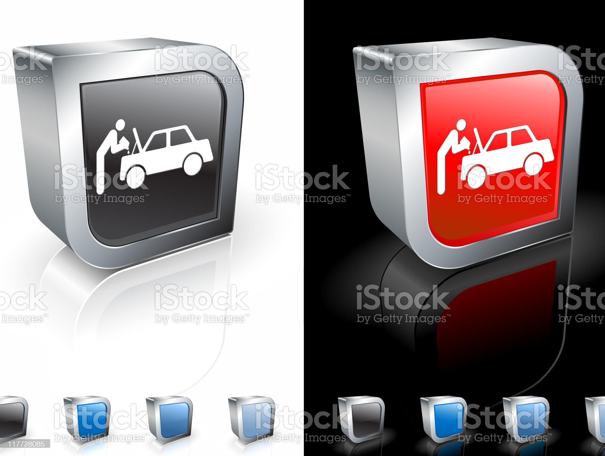 car mechanic 3D royalty free vector art royalty-free stock vector art