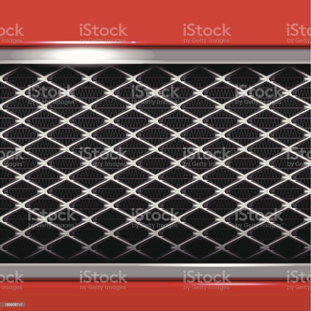 Car Metallic Grille vector art illustration