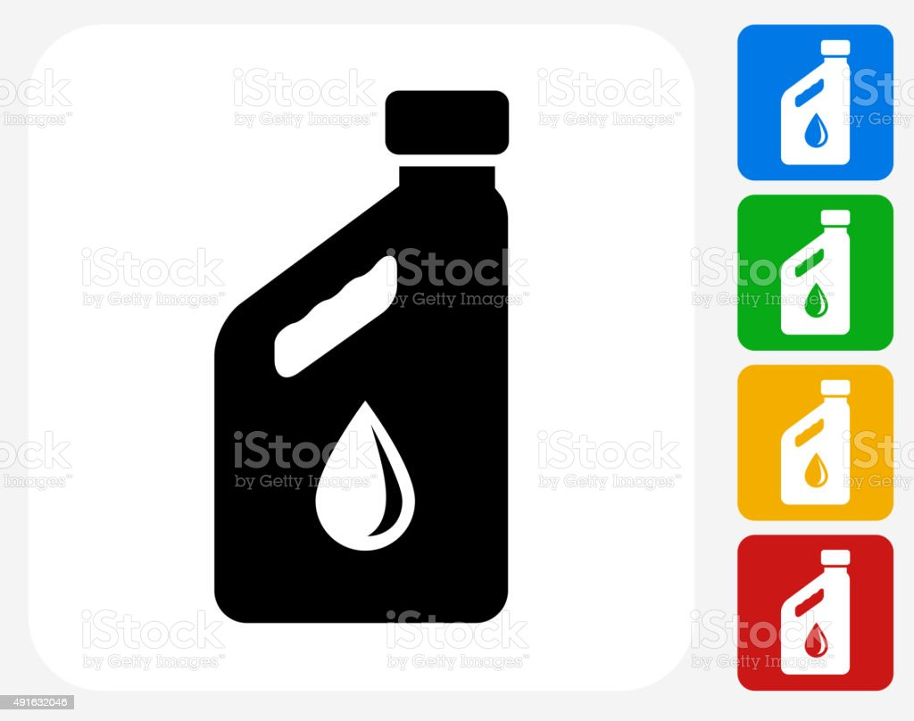 Car Oil Bottle Icon Flat Graphic Design vector art illustration