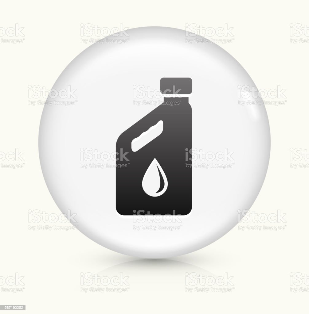 Car Oil Bottle icon on white round vector button vector art illustration