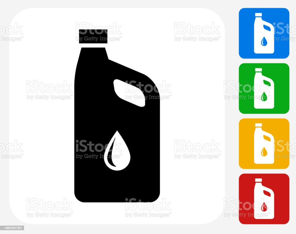 Car Oil Icon Flat Graphic Design vector art illustration