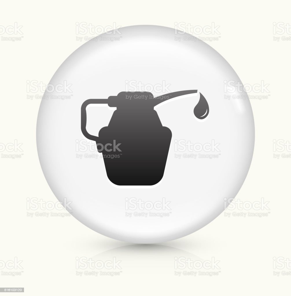 Car Oil icon on white round vector button vector art illustration