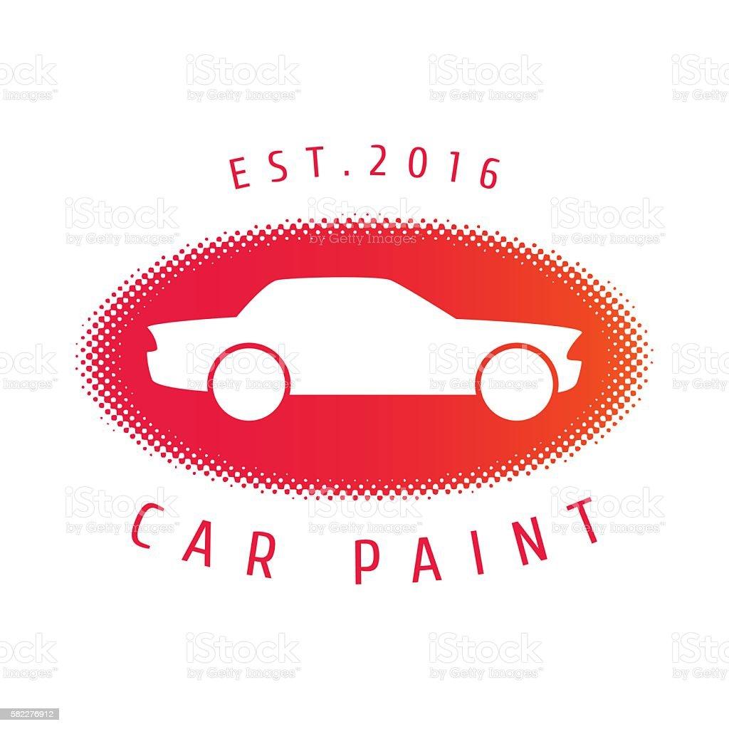 Car paint vector template, badge, icon vector art illustration