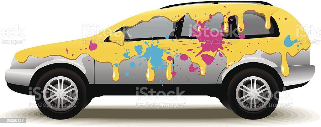 Car Painting vector art illustration