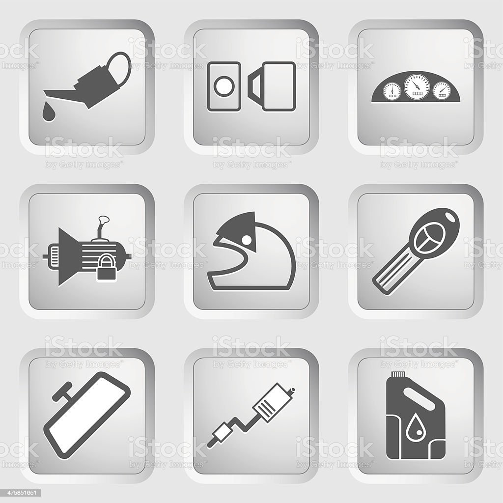 Car part and service icons set 4. vector art illustration