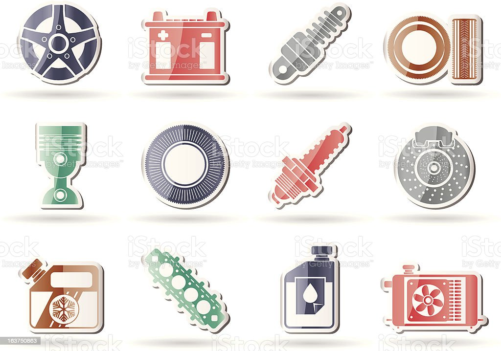 Car Parts and Services icons royalty-free stock vector art
