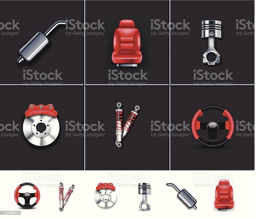 Car parts icons 2 royalty-free stock vector art