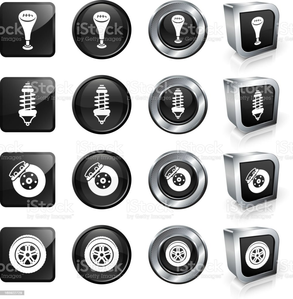 Car Parts royalty free vector button set royalty-free stock vector art