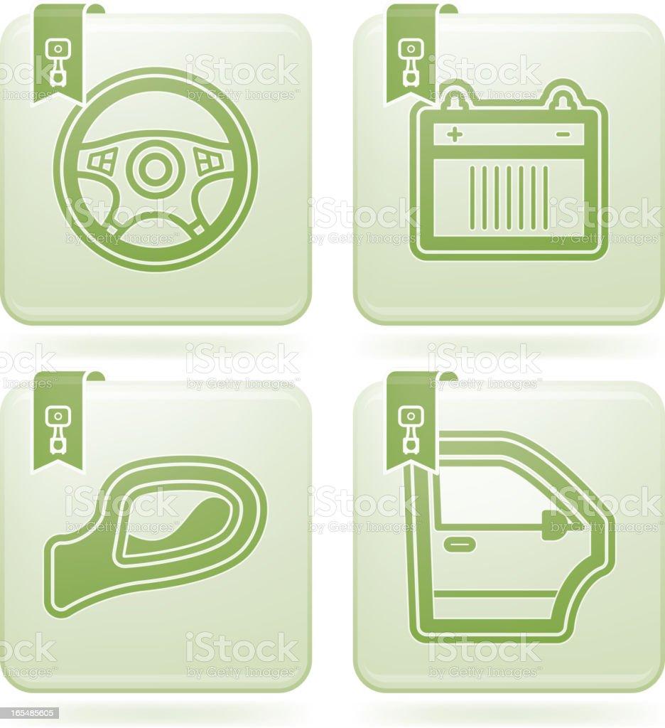 Car parts royalty-free stock vector art