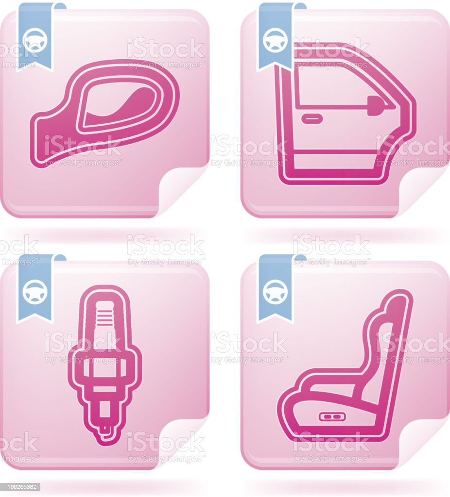 Car parts royalty-free stock vector art