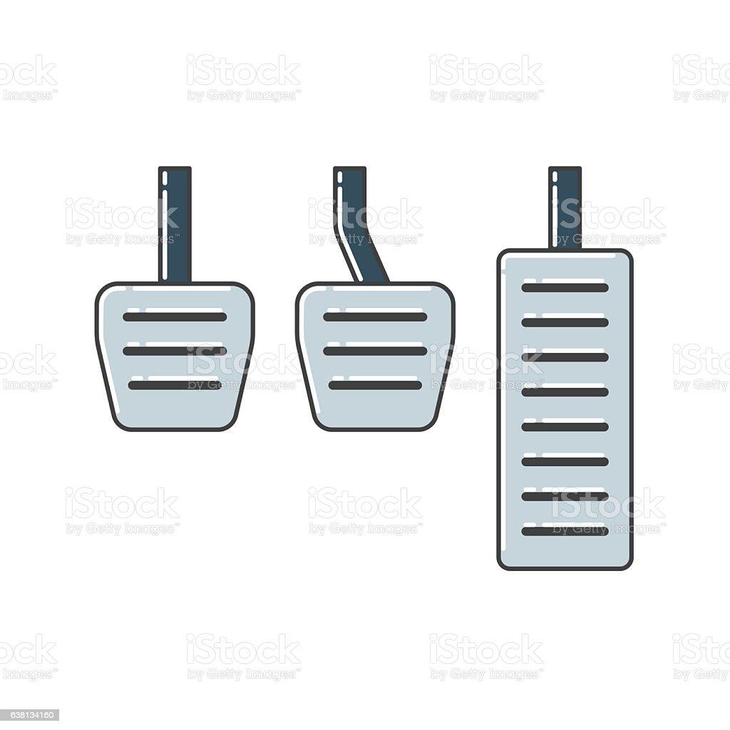 Car Pedals vector art illustration