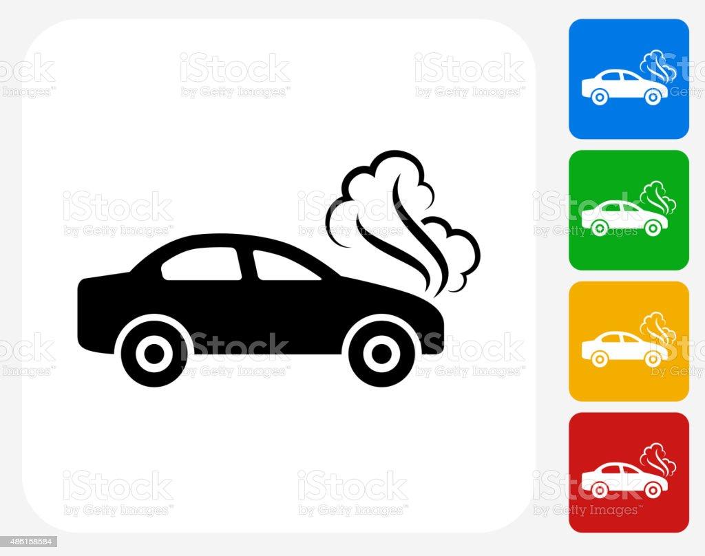 Car Problem Icon Flat Graphic Design vector art illustration