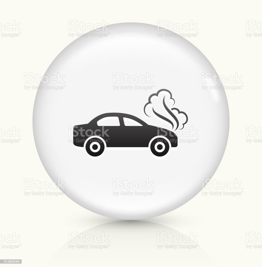 Car Problem icon on white round vector button vector art illustration