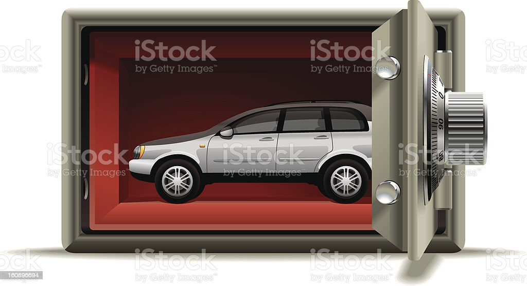Car protected royalty-free stock photo