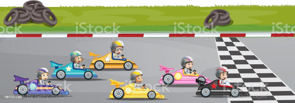 Car racing competition royalty-free stock vector art