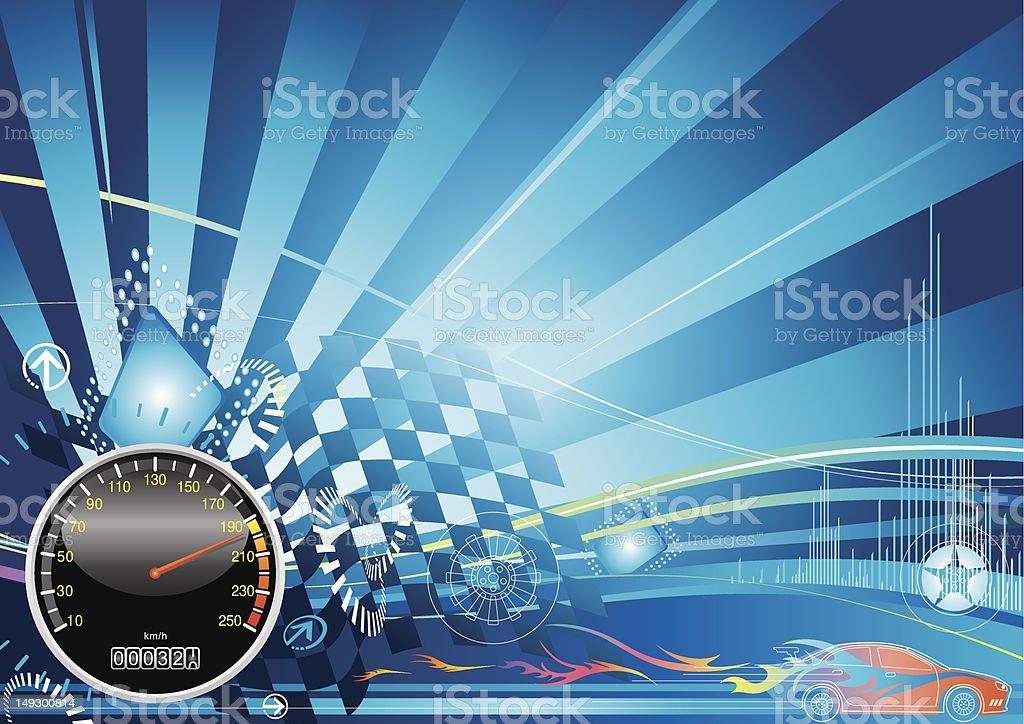 car racing concept design vector art illustration