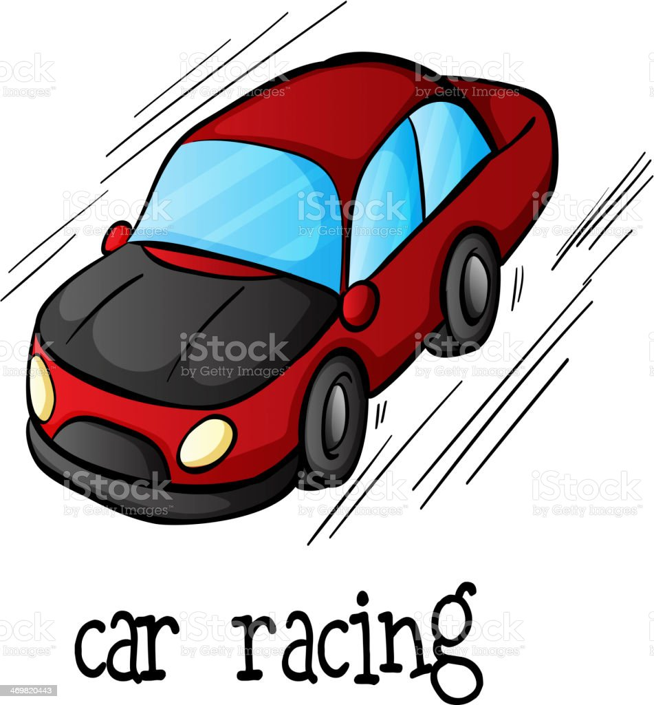 car racing royalty-free stock vector art
