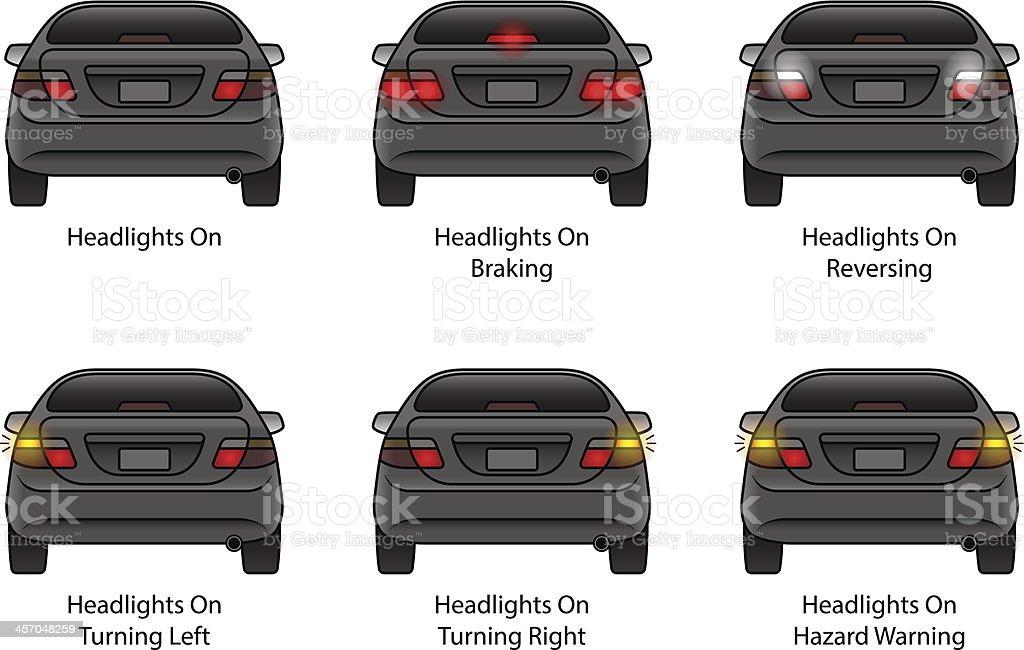 Car Rear Indicators vector art illustration