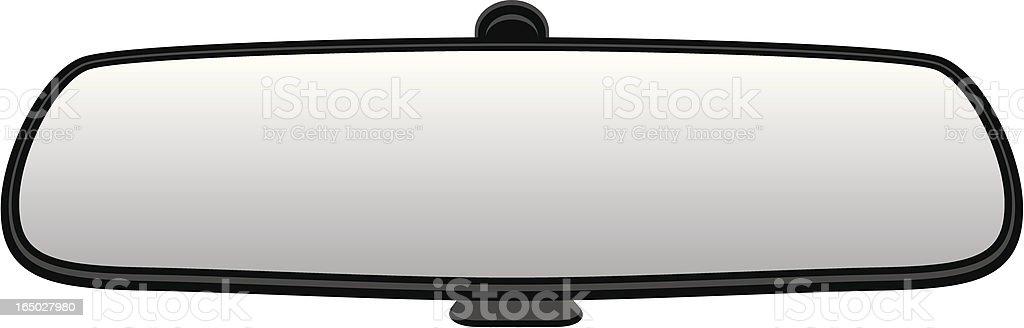 VECTOR: Car Rear View Mirror royalty-free stock vector art