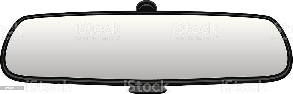VECTOR: Car Rear View Mirror vector art illustration