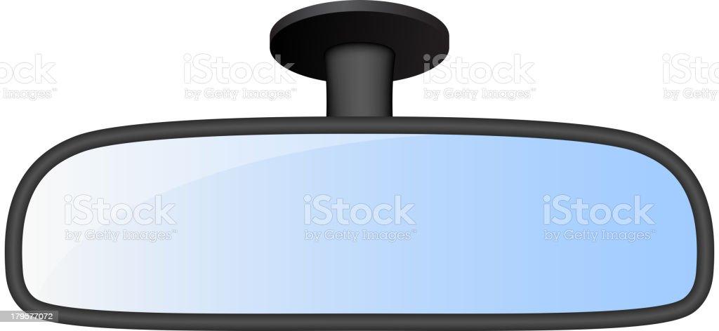 Car rear view mirror royalty-free stock vector art