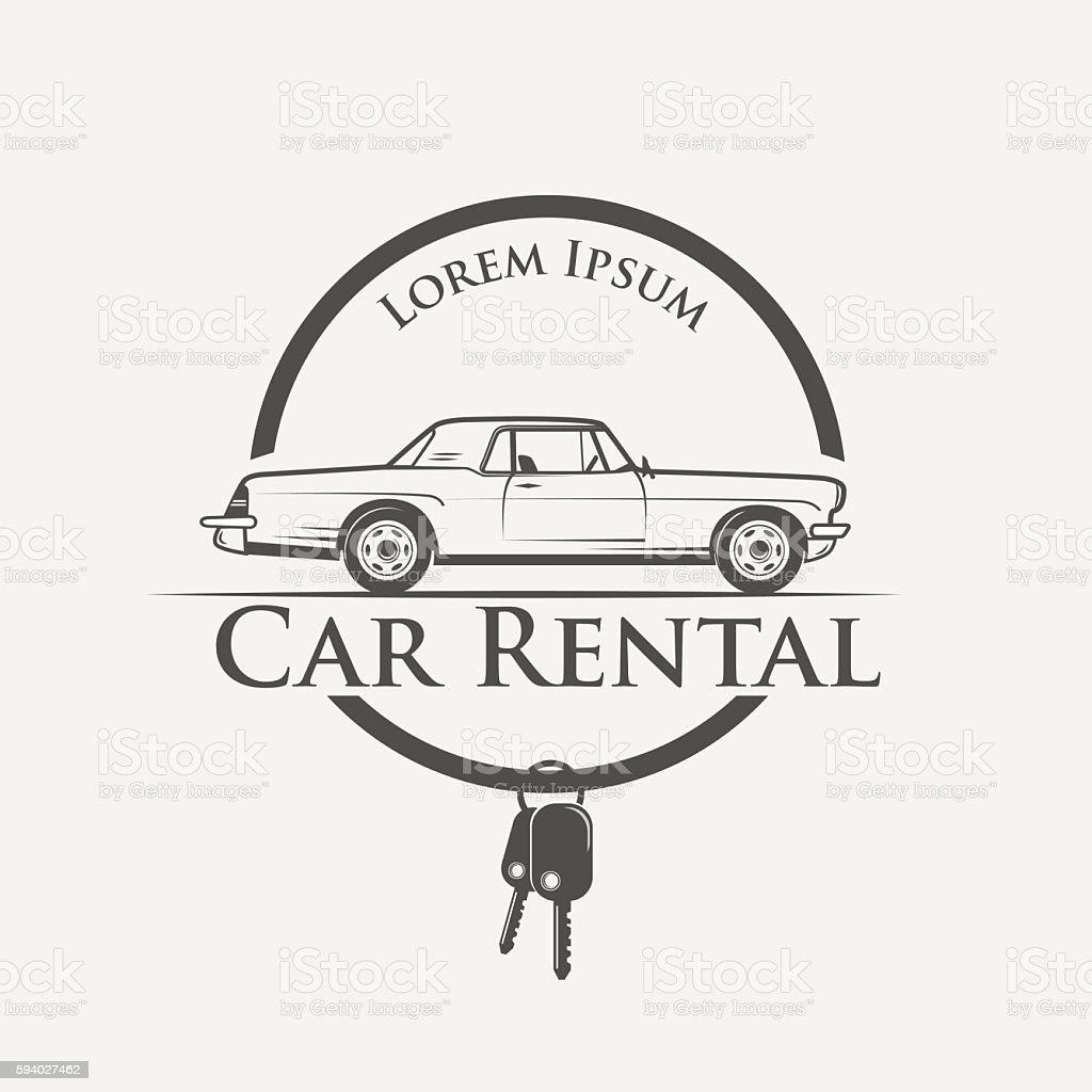 car rental logo vector art illustration
