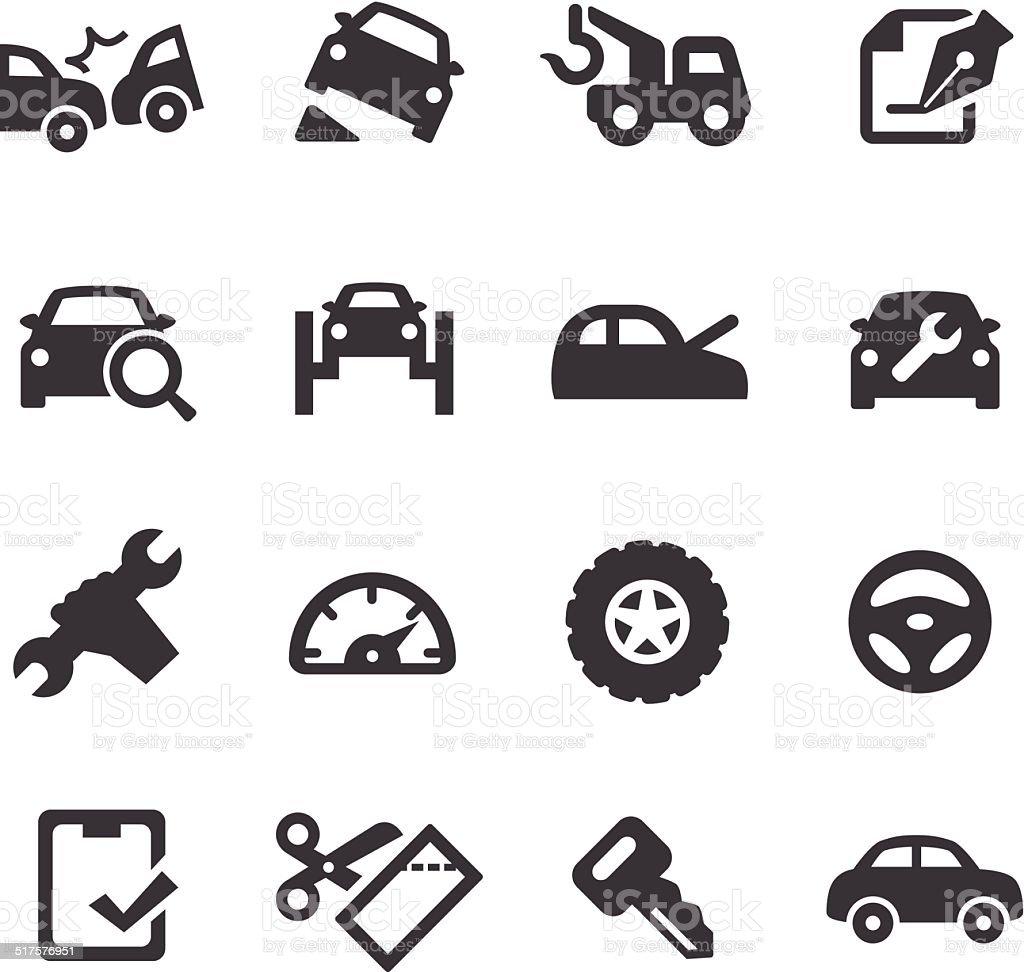 Car Repair Icons - Acme Series vector art illustration