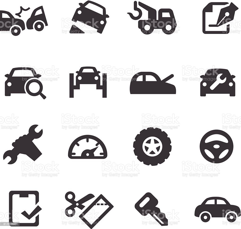 Car Repair Icons - Acme Series vector art illustration