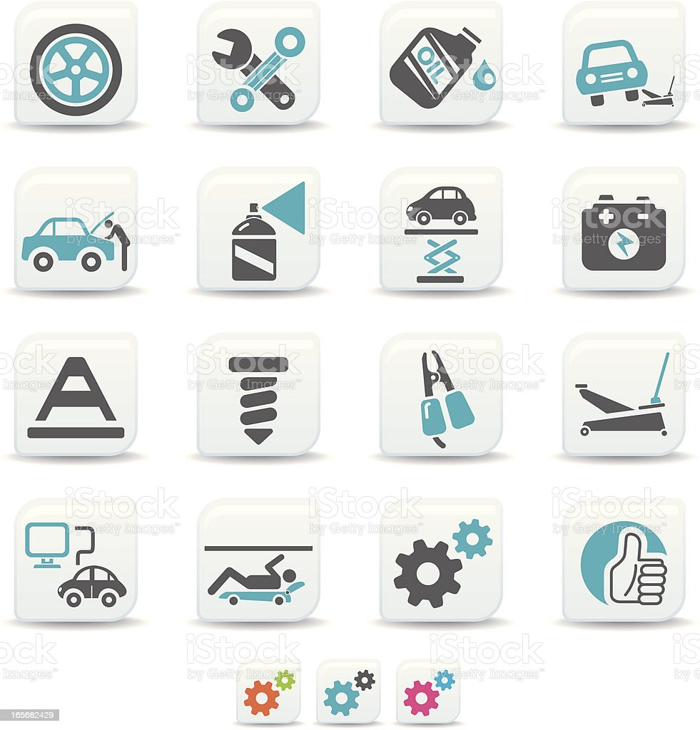 car repair icons | simicoso collection vector art illustration