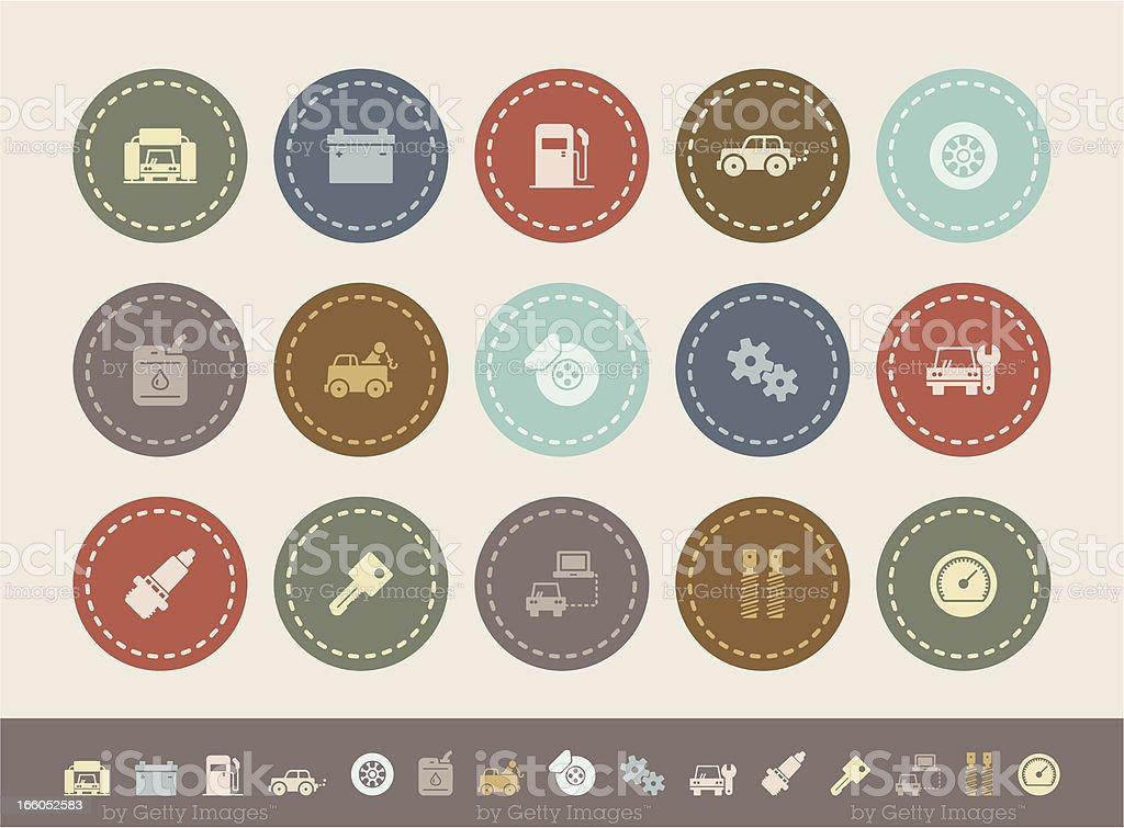 car repair icons royalty-free stock vector art