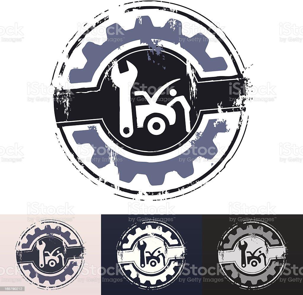 Car repair rubber stamp royalty-free stock vector art