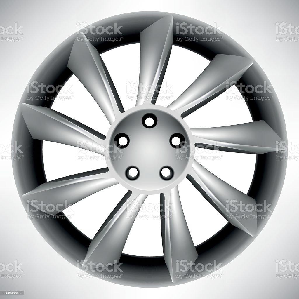 Car rim vector art illustration