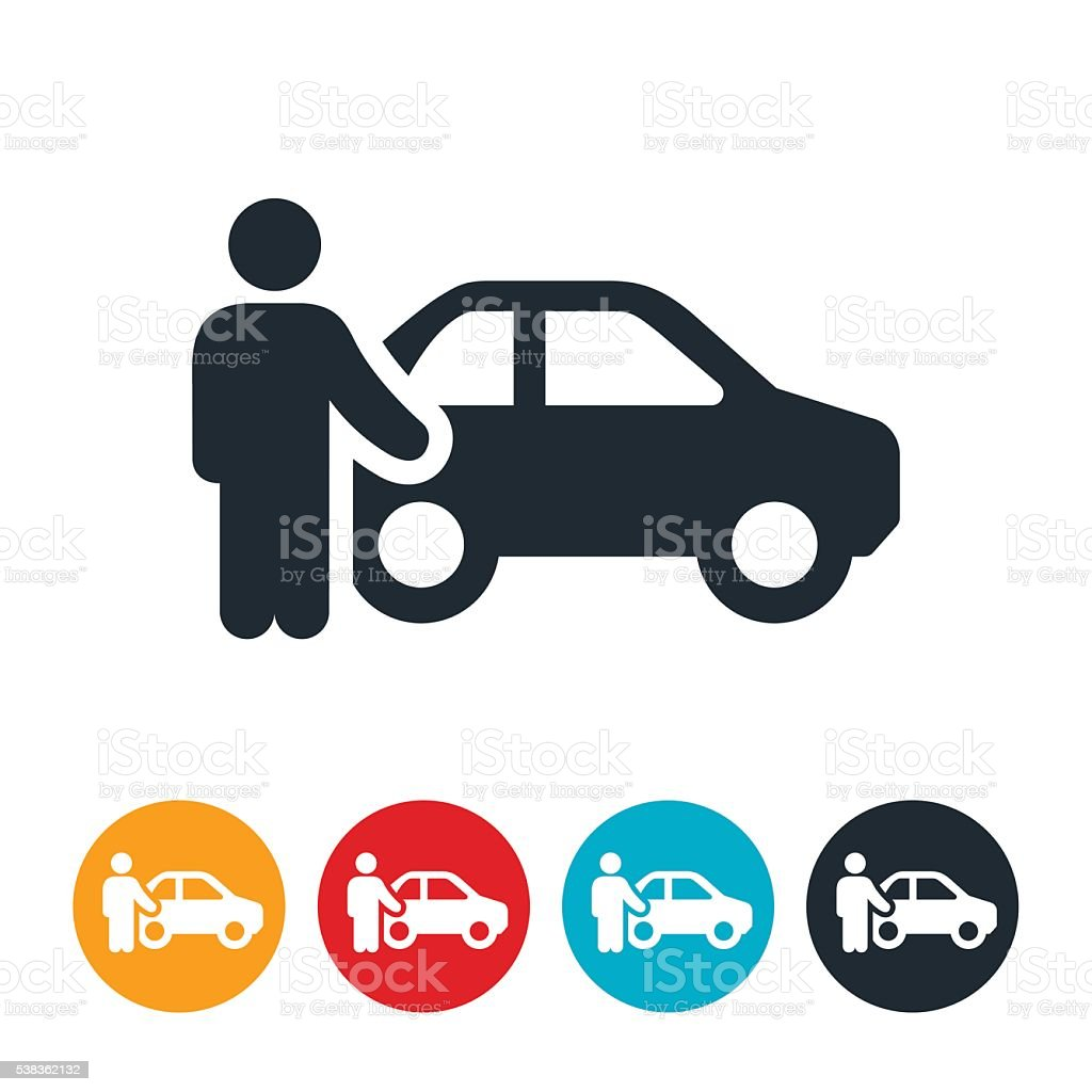 Car Salesman Icon vector art illustration