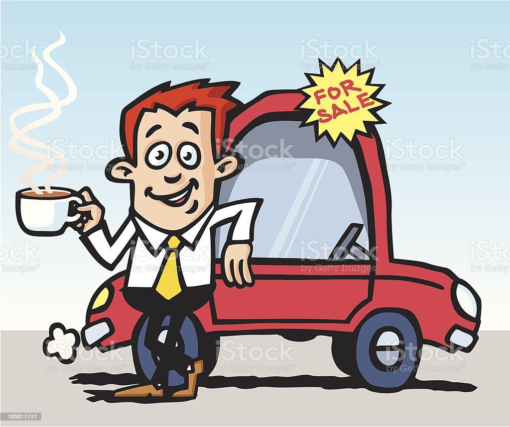 Car Salesman royalty-free stock vector art