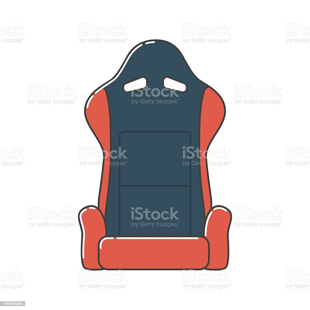Car Seat vector art illustration