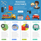 Car Service and Roadside Assistance Infographics