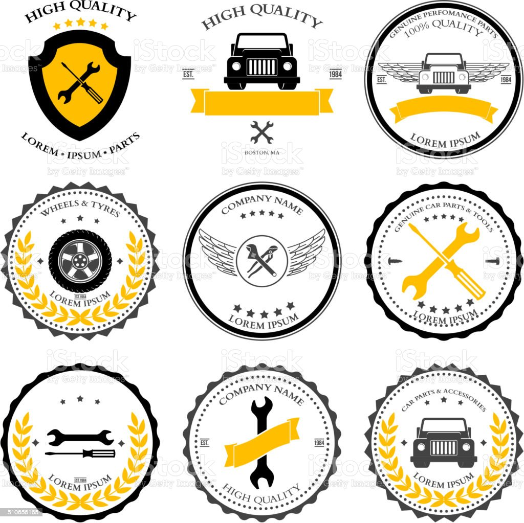 Car service. Auto parts. tools Icons set. Vector vector art illustration