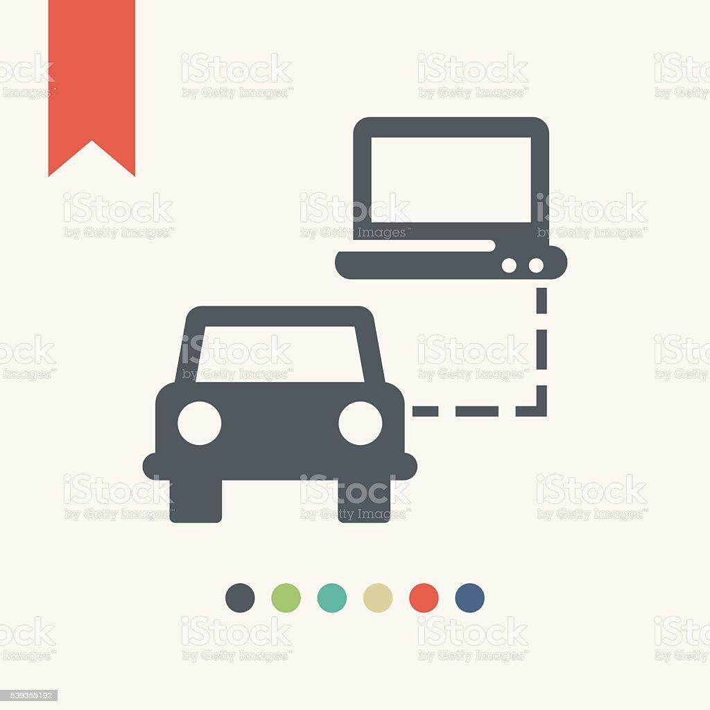 Car service icon vector art illustration