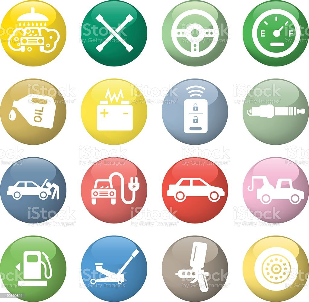 Car service icons royalty-free stock vector art