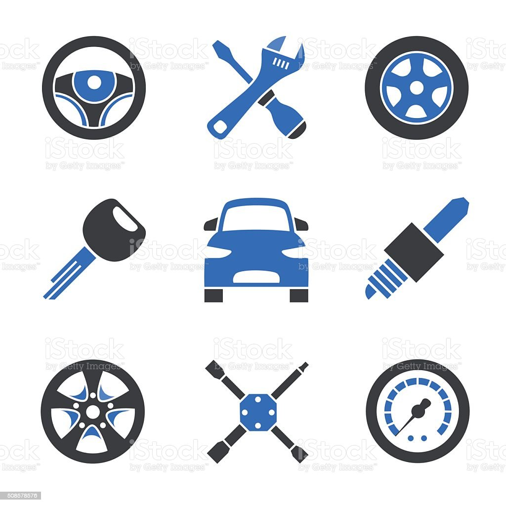 Car service icons vector art illustration