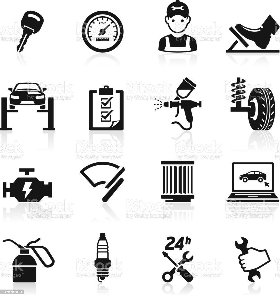Car service maintenance icon. vector art illustration