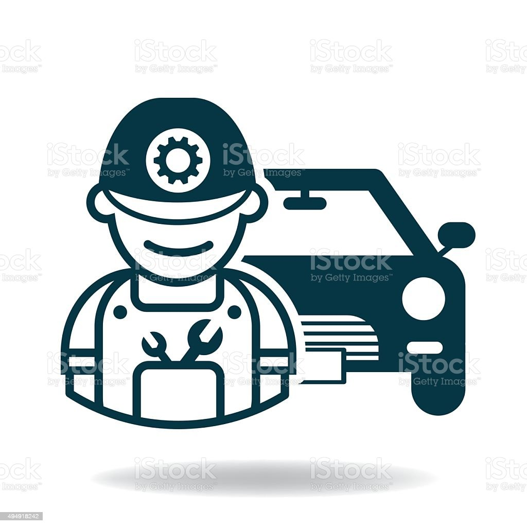 Car Service Maintenance Icon Vector stock vector art 494918242 ...