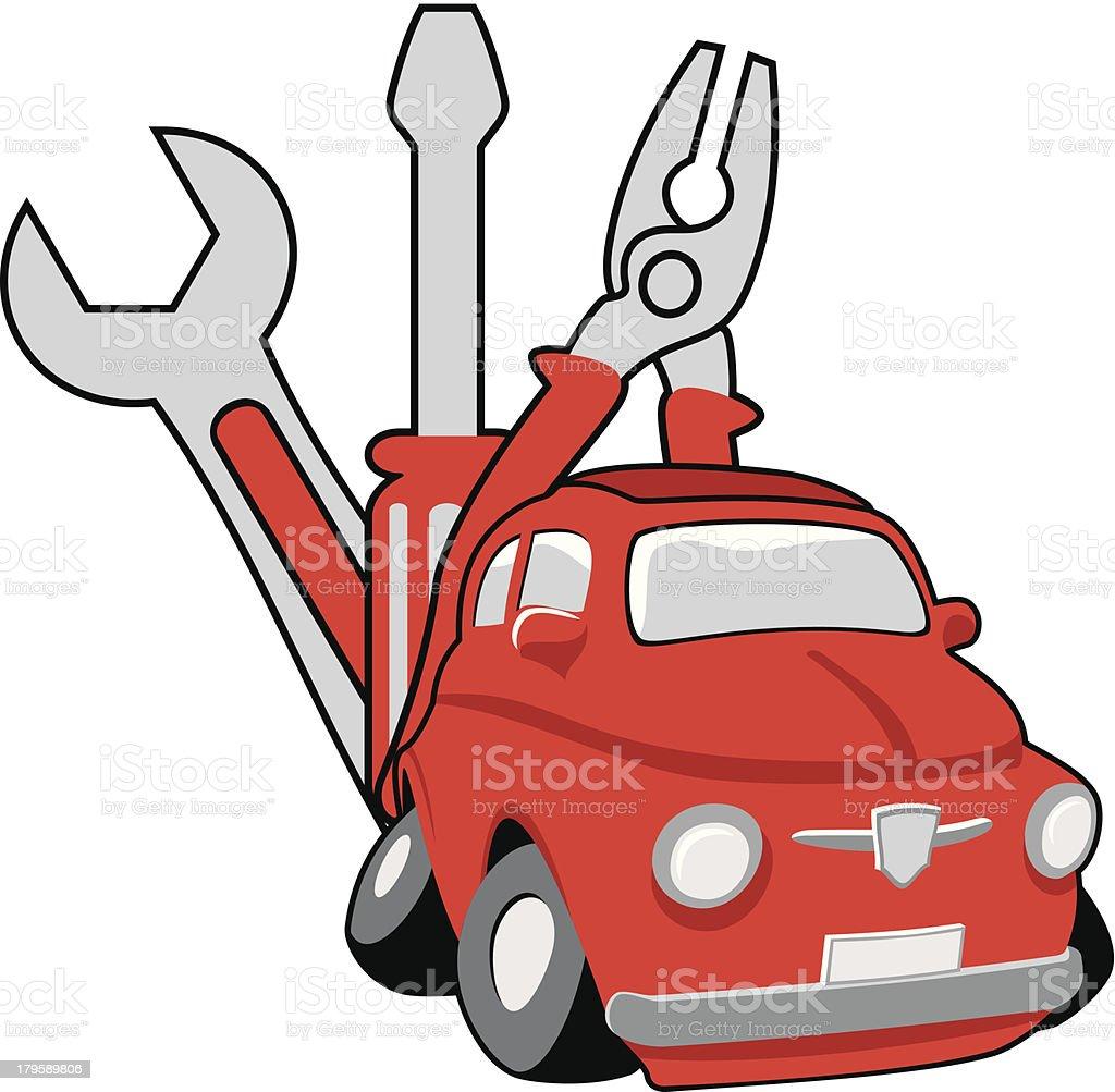 Car service royalty-free stock vector art