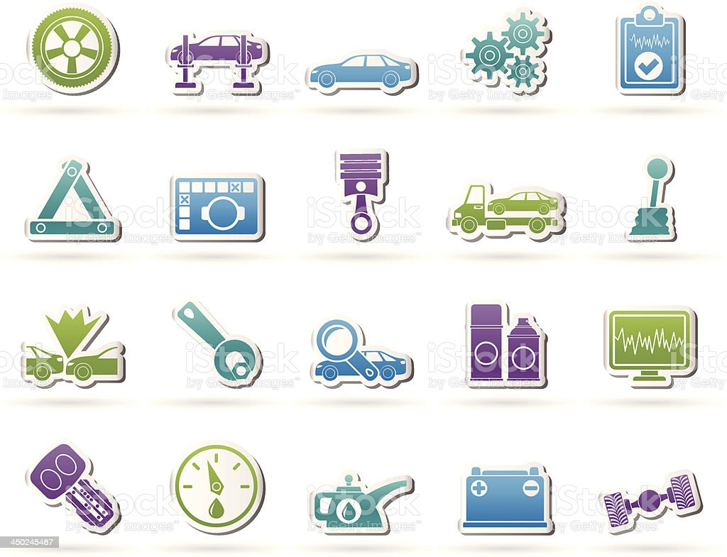 car services and transportation icons royalty-free stock vector art