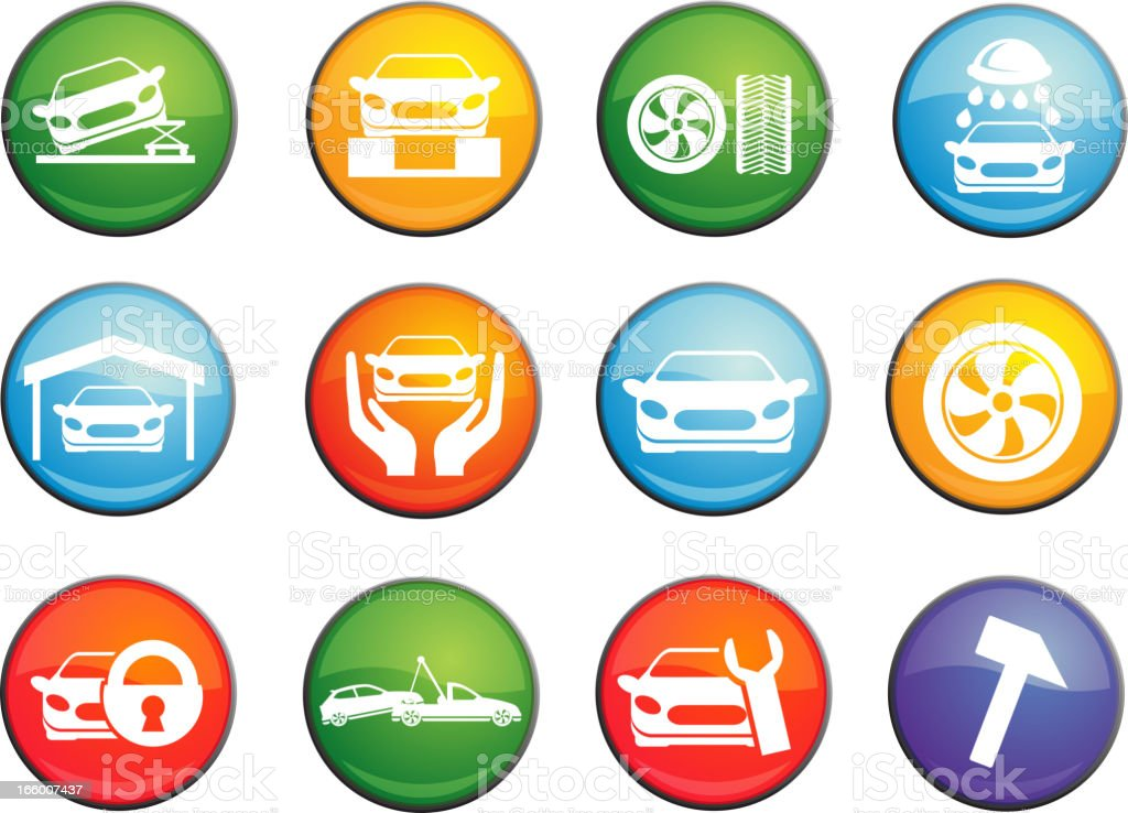 car services button royalty-free stock vector art