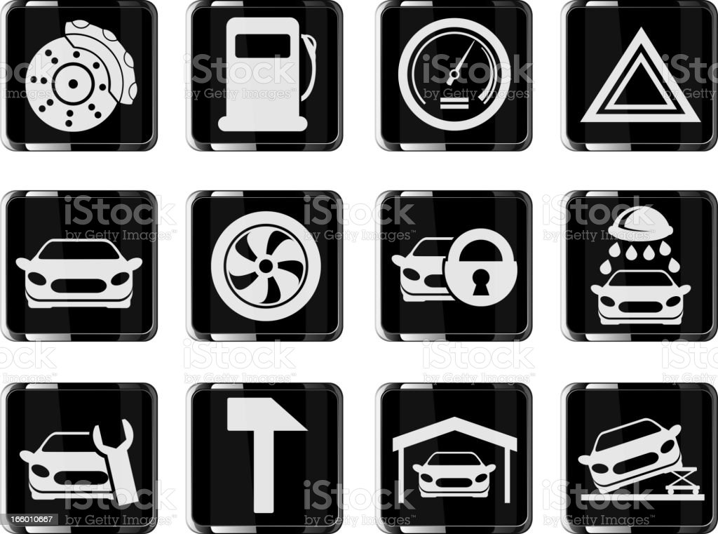 car services button royalty-free stock vector art
