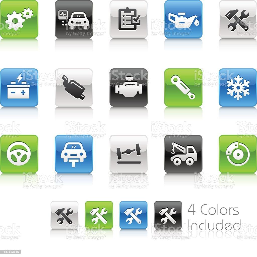 Car Services - Clean Series vector art illustration