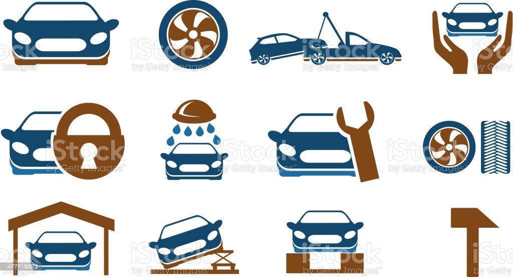 car services icon set royalty-free stock vector art