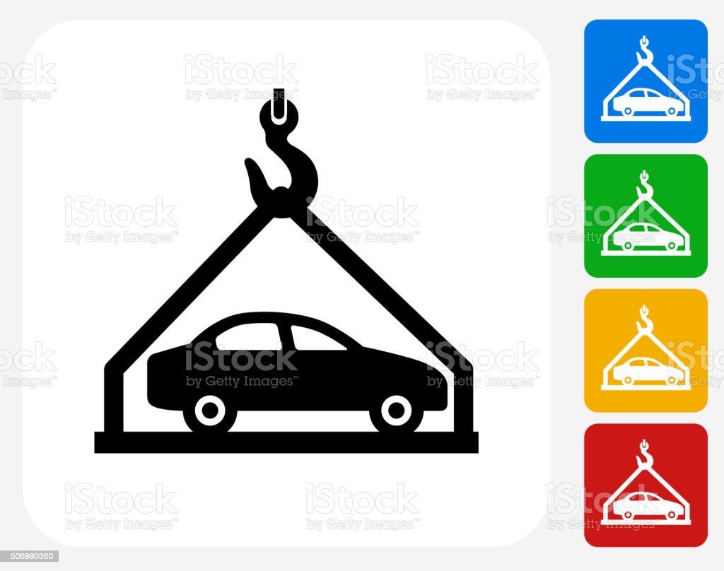 Car Shipping Icon Flat Graphic Design vector art illustration