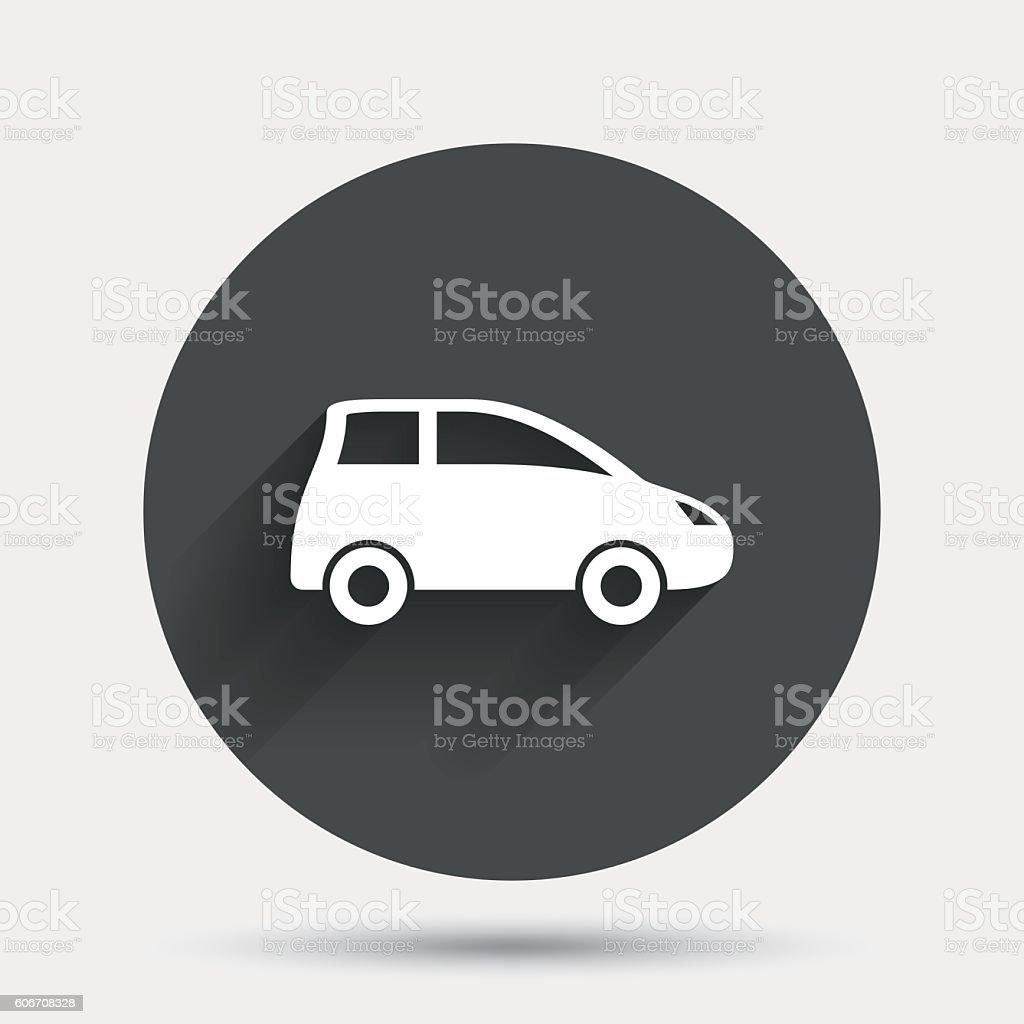 Car sign icon. Hatchback symbol. vector art illustration